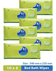 Glider Bed Bath Wipes (Pack Of 6, 60 Pcs)