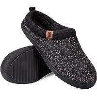 MERRIMAC Men's Comfy Wool Like Knit Memory Foam Slippers