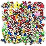 Super Mario Bros Pegatinas para botellas de agua paquete de 100 stickers lindas, impermeables, estéticas, modernas para adole