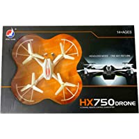 S N S Enterprises HX-750 Original Radio Remote Control Drone Helicopter for Kids with Unbreakable Blades (Multicolor)