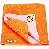 beybee Babies and Adults Waterproof Mattress Protector Sheet (Peach, 140 X 100 cm)