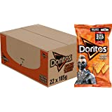 Doritos Tortilla Chips Nacho Cheese, Doos 22 stuks x 185 g