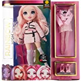Lalka modowa Rainbow High - Bella Parker - Lalka w kolorze rózowym z modnymi strojami, akcesoriami i stojakiem na lalke - Rai