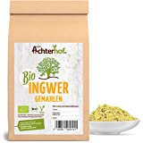 Bio Ingwerpulver (1kg) | Ingwer gemahlen | Ingwerwurzel gemahlen perfekt fuer Ingwertee Ingwertinktur Ingwerwasser oder zum Kochen