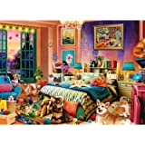 Puzzle 1000 piezas diseño de casita de cachorros, 1000 piezas, juego de rompecabezas para adultos y niños, juego de habilidad