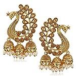 MEENAZ Gold Plated Brass Earrings for Women