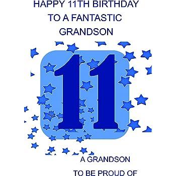 Grandson 11 Birthday Card