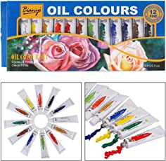 Bianyo Artist Quality ACRYLIC Color Tubes Paint Set - 12ml Tubes, 12 Shades