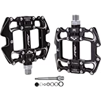 """JGbike PD-XM521 mtb Pedals,CNC mountain bike pedals,Non-Slip platform pedals,9/16"""" sealed 3 Bearing bicycle flat…"""