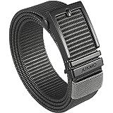 JUKMO Ratchet Belt for Men, Nylon Web Tactical Gun Belt with Automatic Slide Buckle