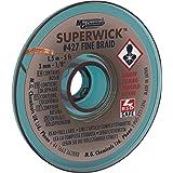 """MG Chemicals 427 Trenza para desoldar Super Wick con fundente RMA, 5 'de largo x 0.125""""de ancho"""