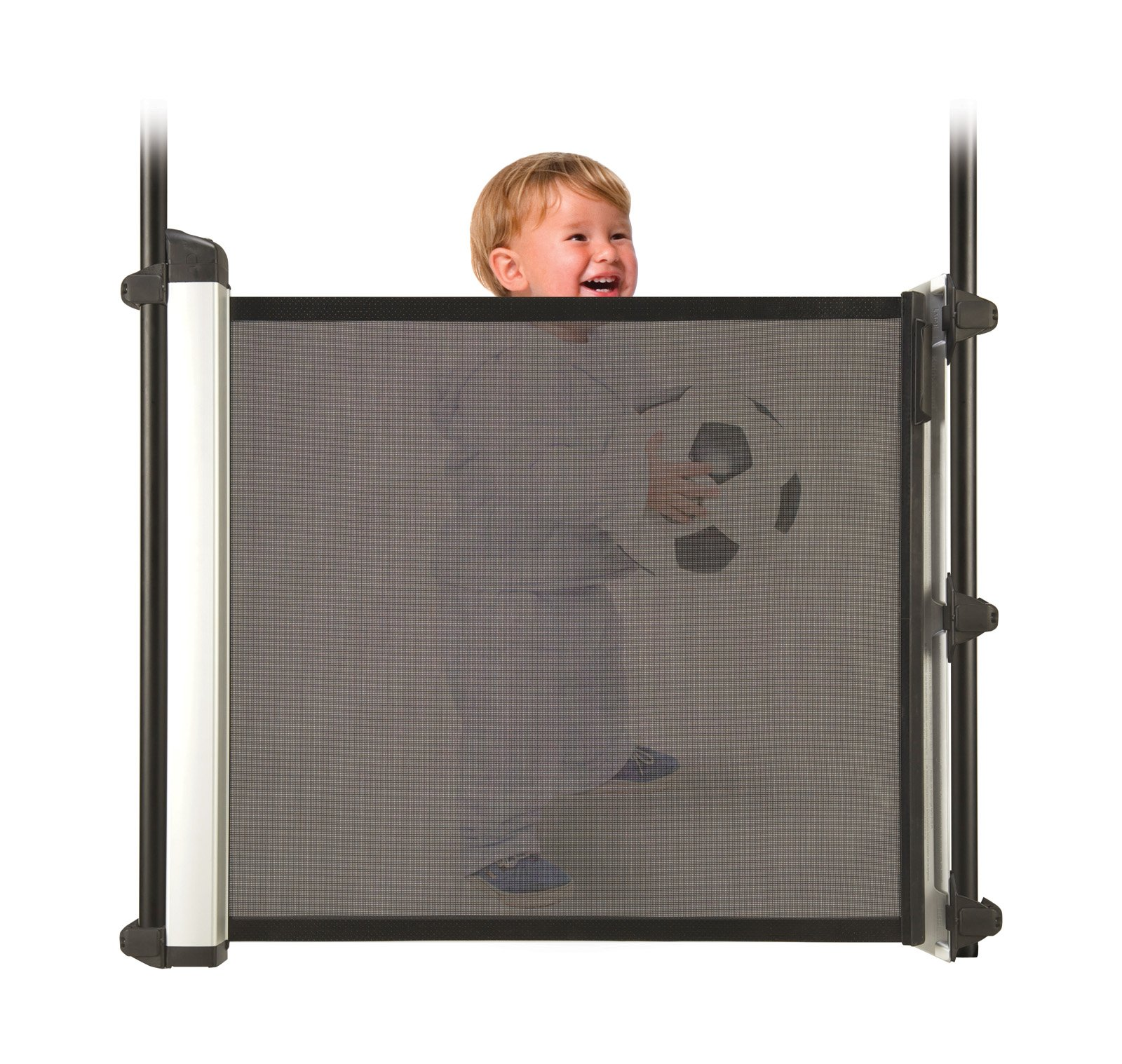 Lascal Kiddyguard Avant - Black KiddyGuard Super size extra wide retractable baby gate for spaces up to 120cm. Can easily be operated with one hand Simple and easy to install 19