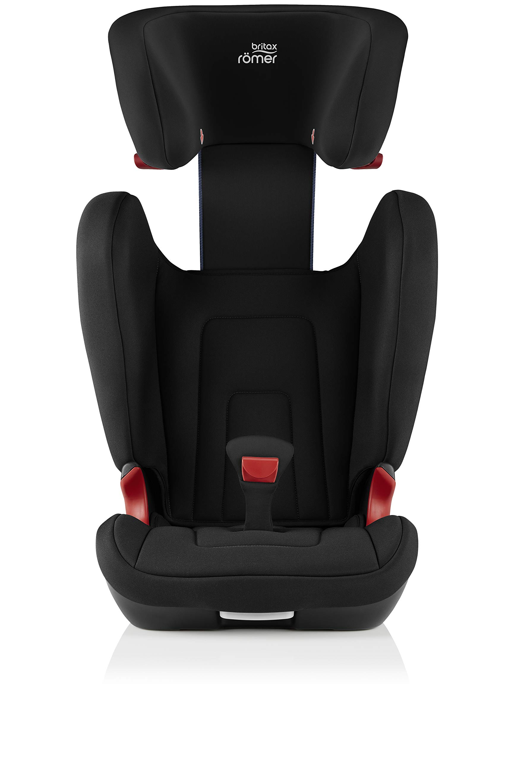 Britax Römer car seat 15-36 kg, KIDFIX 2 R Isofix group 2/3, Cosmos Black Britax Römer Secure guard - helps to protect your child's delicate abdominal area by adding an extra - a 4th - contact point to the 3-point seat belt. High back booster - protects your child in 3 ways: provides head to hip protection; belt guides provide correct positioning of the seat belt and the padded headrest provides safety and comfort. Easy adjustable v-shaped backrest - designed to give optimum support to your growing child, the v-shaped backrest provides more space for their back and shoulders. 6
