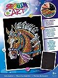 MAMMUT 8041517 - Sequin Art Paillettenbild Pferd, Steckbild, Bastelset mit Styropor-Rahmen, samtige Bildvorlage…