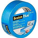 ScotchBlue Premium schildercrêpe universeel, 36 mm x 41 m, veelzijdig Scotch plakband voor schilderwerk en decoratie, voor bi