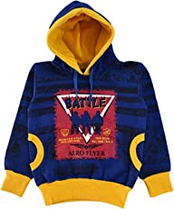Come in Kids Girls Hooded Winter Wear Printed Sweatshirt