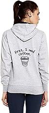 Goodtry Women's Cotton Hoodies Back Print -Coffee