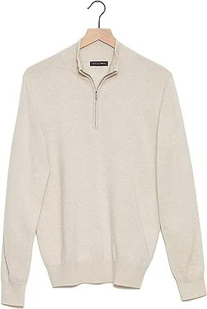 State Cashmere Uomo 100% Puro Cashmere Pullover Lupetto con Cerniera