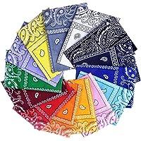 Awinker Bandane Cappelli Collo Testa Sciarpa Fazzoletti da Taschino Disegno Paisley Realizzati in 100% Cotone