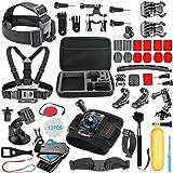 56-en-1 Kit Accessoires pour GoPro Hero 9 Black Max Hero 8 7 6 5 Session 4 3 Crosstour, APEMAN, AKASO, YI Caméra Action…