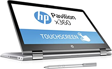 HP Pavilion x360 14-ba019ng (14 Zoll FHD Touchscreen) Convertible Laptop (Intel Core i5-7200U, 8GB RAM, 256GB SSD, Intel HD-Grafikkarte 620, Windows 10 Home 64) Silber