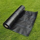 Bâche Protection Sol et Jardin (1m x 10m) GROUNDMASTER™ Toile Géotextile Anti Mauvaises Herbes Anti UV Robuste Perméable