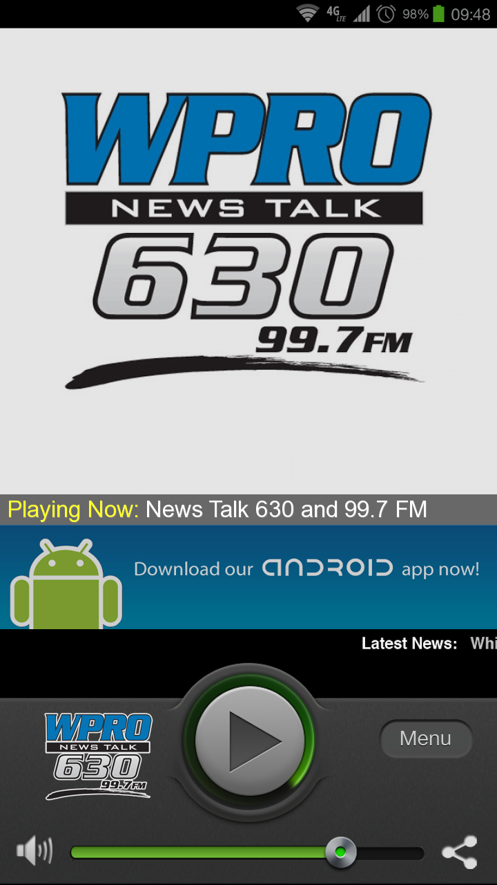news talk 630 wpro 99 7 fm appstore pour android. Black Bedroom Furniture Sets. Home Design Ideas