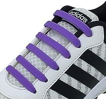 Newkeen No Tie Lacets pour Les Enfants et Adultes, imperméables Silicon Flat élastiques Lacets de Sport Course de Chaussures pour Shoes Sneaker Conseil Bottes et Souliers
