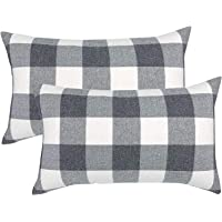 """ATOOTFUSION Black Hosiery Medium Hard Cotton Bed Pillow for Perfect Neck Support (16"""" x 25"""") Hard Pillow Set of 02…"""