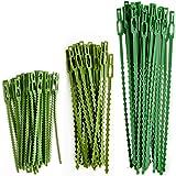HX 110 stuks verstelbare plantenbinders kunststof kabelbinderset Twist Ties voor groene plantensteun flexibele plantenbanden