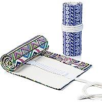 Comius Sharp 2 Pezzi Tela Sacchetto Della Matita Roll Up Pencil Pouch 72 Fori Tela Matita Wrap Astuccio, per Artista…