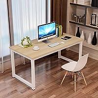 Computertisch 120×60×75cm, Holz Metall, Simple Schreibtisch Klein, Multifunktional PC Tisch Bürotisch Office Tisch…