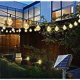 Bteng Solar Garden Lights, 60 LED Outdoor String Lights Solar Powered Waterproof Fairy Lights Decorative Crystal Ball Lightin
