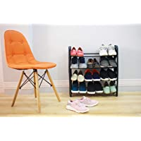 Ebee Foldable Shoe Rack with 4 Shelves (Plastic Pipe)