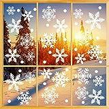 O-Kinee Decoracion Navidad Ventana, 335 Pegatinas Decorativas de Copo de Nieve para Adorno Navideño Accesorio de Decoración p