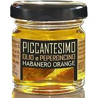 Olio Piccante HABANERO ORANGE - Piccante MEDIO Extravergine Oliva e Peperoncino 30ml PICCANTESIMO