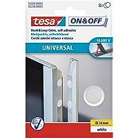 Tesa 55226-00003-01 - Círculos de cierre uso Universal ON&OFF - 16mm, 8 pares, Blanc