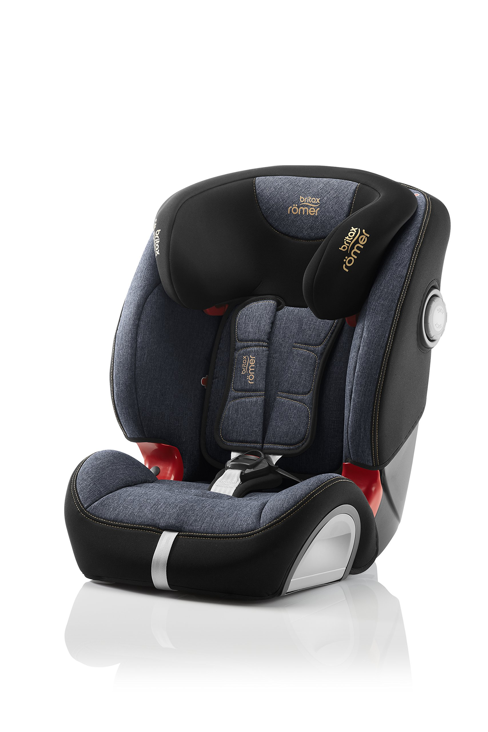 Britax Römer EVOLVA 1-2-3 SL SICT Group 1-2-3 (9-36kg) Car Seat - Blue Marble  This EVOLVA 1-2-3 SL SICT will come in a Blue Marble design cover which is made from a more premium fabric with extra detailing Enhanced Side Impact Protection (SICT) minimises the force of an impact in a side collision CLICK & SAFE audible harness system for that extra reassurance when securing your child in the seat 1