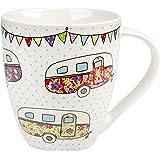 The Caravan Trail Festival Caravans Crush Mug, Multi-Colour