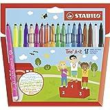 Viltstift - STABILO Trio A-Z - 18 stuks - met 18 verschillende kleuren