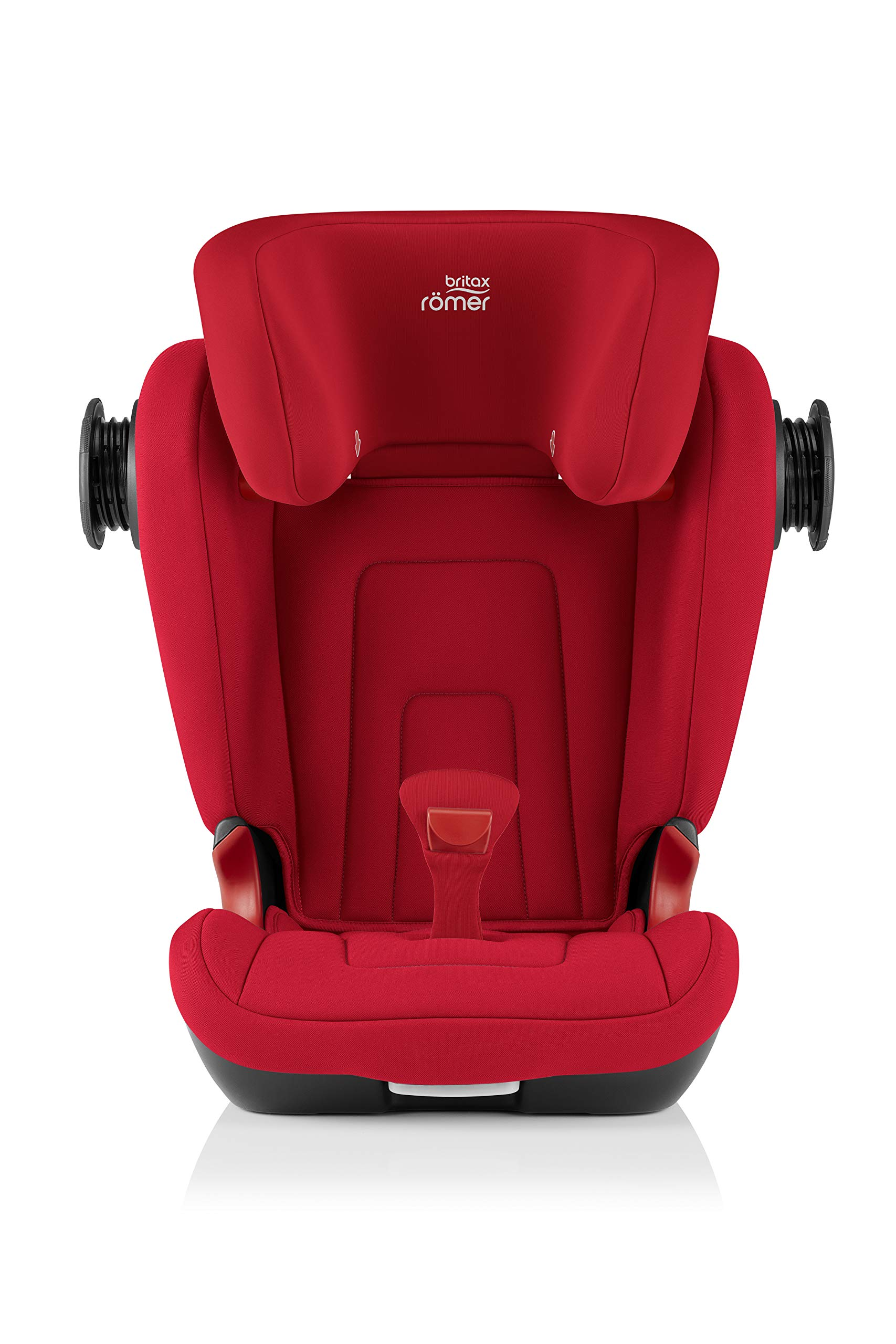 Britax Römer KIDFIX² S Group 2-3 (15-36kg) Car Seat - Fire Red Britax Römer Advanced side impact protection - sict offers superior protection to your child in the event of a side collision. reducing impact forces by minimising the distance between the car and the car seat. Secure guard - helps to protect your child's delicate abdominal area by adding an extra - a 4th - contact point to the 3-point seat belt. High back booster - protects your child in 3 ways: provides head to hip protection; belt guides provide correct positioning of the seat belt and the padded headrest provides safety and comfort. 6