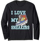 Sneaker J'aime ma basket Sneakers Chaussure de sport Manche Longue