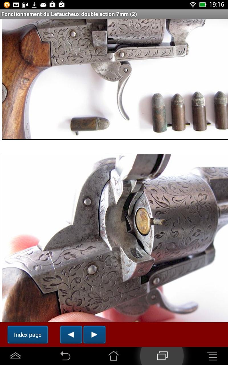 Le revolver Lefaucheux double action 7mm à broche: Amazon