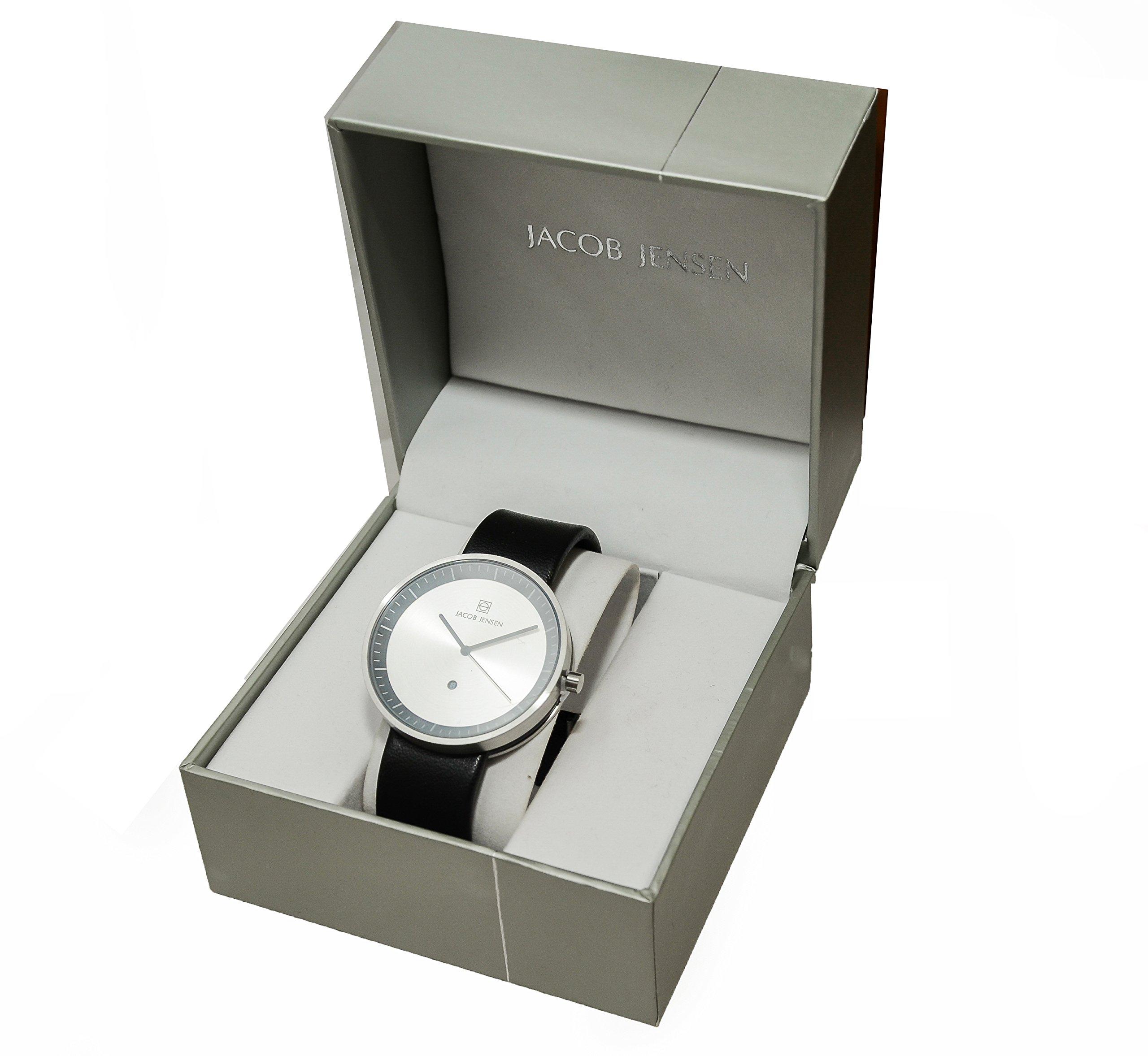 Jacob Jensen–Reloj de pulsera analógico de cuarzo (One Size, Plata)