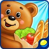 Supermarkt - lehrreiches und unterhaltsames Spiel für Kinder im Kindergartenalter, in dem Vorschulkinder die Einrichtung eines Lebensmittelladens kennenlernen, Einkaufen nach einer Liste machen, Süßigkeiten machen, mit der Kasse arbeiten