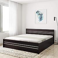 Amazon Brand - Solimo Vega Engineered Wood Hydraulic Half Lift-on King Bed (Espresso Finish)