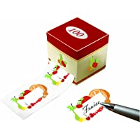 Etiquettes Adhesives Motif Fruits Lot de 100