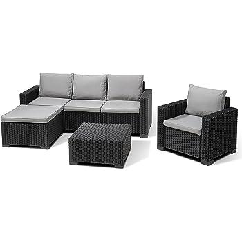 Amazon.de: Allibert Lounge-Set Moorea 4tlg, graphit/cool grey
