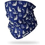 Ruffnek BLUEPRINT SAILING BOATS NECK WARMER Multifunctional scarf/snood - ONE SIZE for Men, Women & Children