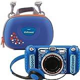 Vtech 80-520094 80-520094-KidiZoom Duo DX inklusive bärväska blå barnkamera